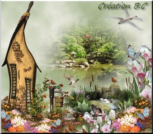 """Mi creación para el tema de desafío """"Le Jardin"""""""